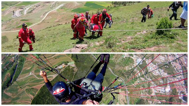Cusco: Parapentista se accidenta en el Valle Sagrado de Los Incas