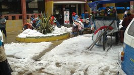 ¡Emergencia!. Terrible granizada castigó  a Juliaca
