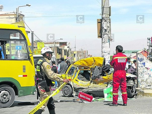 En Arequipa se han registrado 93 mil accidentes con 3 mil fallecidos