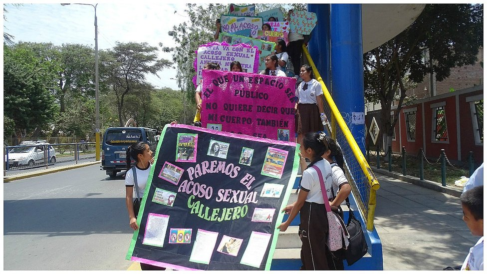 Chiclayo: Escolares marchan contra el acoso sexual callejero (Fotos y Video)