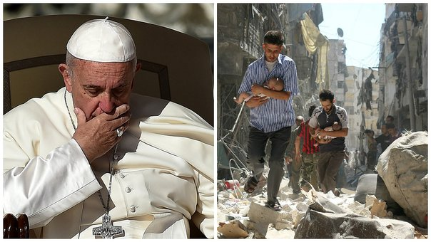 El papa Francisco implora un alto al fuego en Siria para evacuar a los civiles (VIDEO)