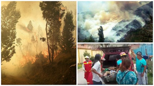 Cusco: Confirman dos fallecidos y tres heridos en incendio forestal incontrolable