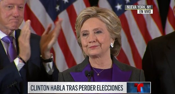 Hillary Clinton se pronuncia tras su derrota ante Donald Trump (VIDEO)