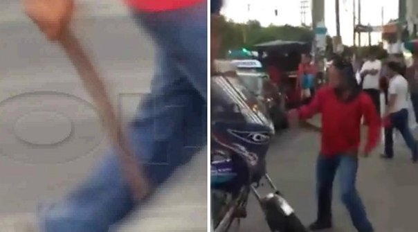 Trujillo: Taxista ataca con machete a conductor de mototaxi (VIDEO)
