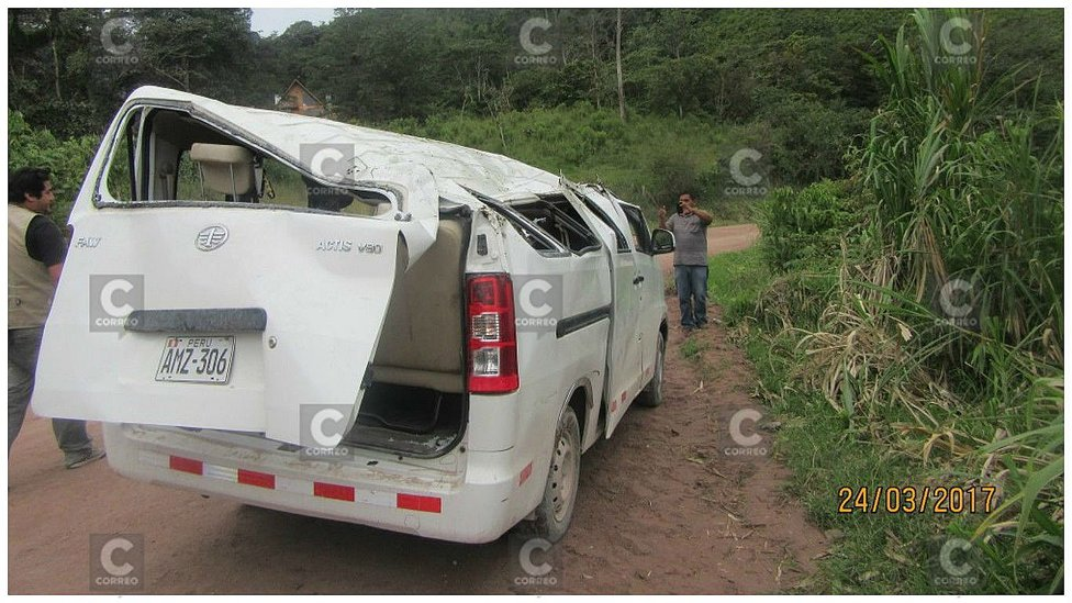 Profesores y alumna sufren terrible accidente pero se salvan de milagro (FOTOS)