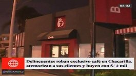 ​San Borja: delincuentes asaltan exclusivo café en Chacarilla (VIDEO)