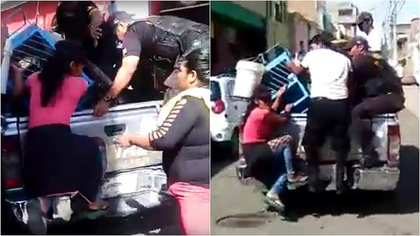 Chiclayo: Ambulante arriesga su integridad para evitar decomiso (VIDEO)