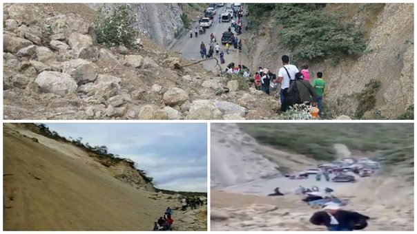 Cajamarca: carretera Belaúnde Terry bloqueada huaico (VIDEO)