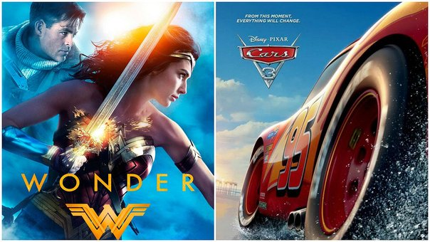 Cars 3 le quita el trono a Wonder Woman