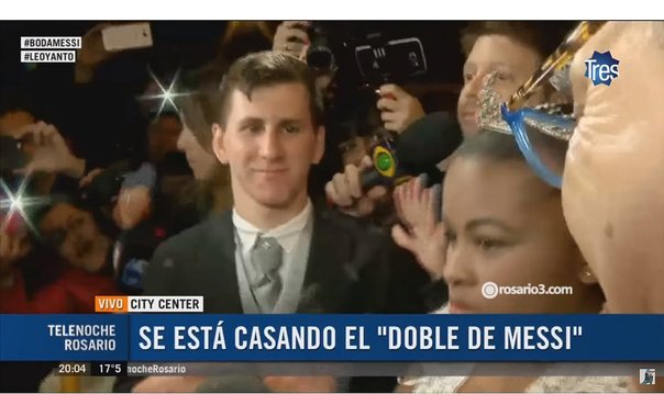 Así se casó el doble de Lionel Messi a la misma hora y en la calle del City Center [VIDEO]