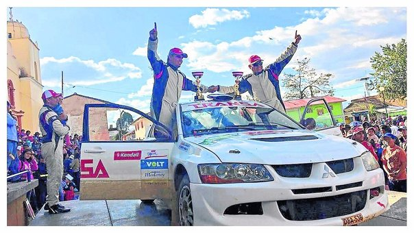 Roberto Parraga del Racing Team fue ganador absoluto en Rally 'Valle del Mantaro'