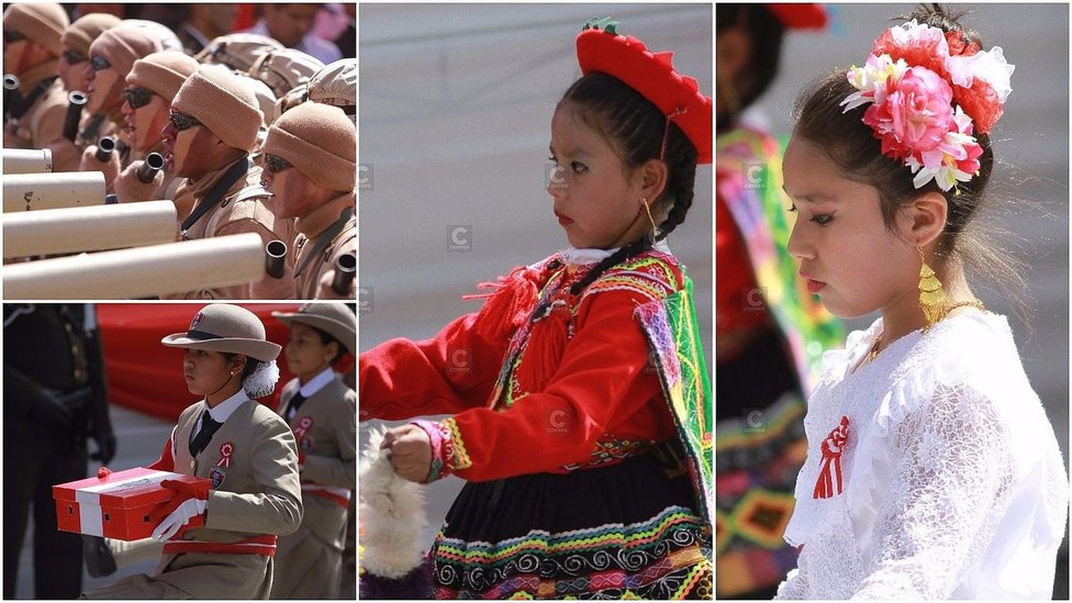 Fiestas Patrias: Arequipa se viste de blanco y rojo (FOTOS y VIDEO)
