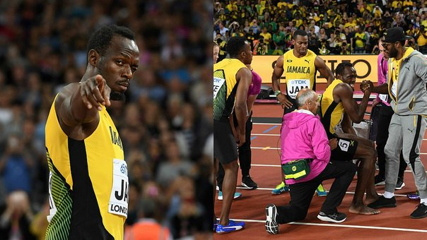 Usain Bolt: lamentable final en la última carrera del atleta (FOTOS)