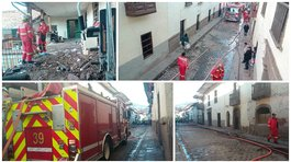 Cusco: Incendio en casona antigua causó alarma en el cercado (VIDEO)