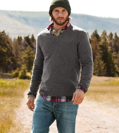 Sabes que es ser lumbersexual una nueva tendencia entre for Flannel shirt under sweater
