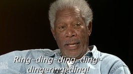 "Mira a Morgan Freeman leer ""what does the fox says?"""