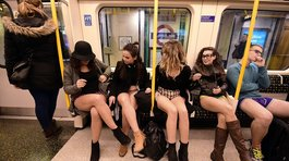 'No pants subway ride 2016', evento se realizó en diversas ciudades del mundo (FOTOS)