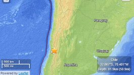 Temblor de 5.7 grados remece Chile