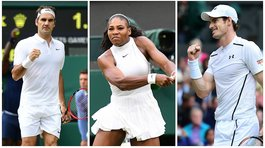 Wimbledon: Roger Federer, Andy Murray y Serena Williams avanzan a cuartos de final