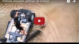 YouTube: Auto cayó de puente y policías rescatan a chilena (VIDEO)