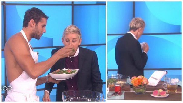 Ellen DeGeneres botó bocadillo que le invitó chef peruano (VIDEO)