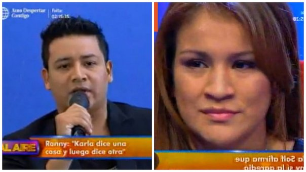 "Ronny García califica de ""bipolar"" a Karla Solf en vivo (VIDEO)"