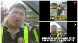 ​Facebook: policía criticado tras impedir pasar a ambulancia por vía del Metropolitano (VIDEO)