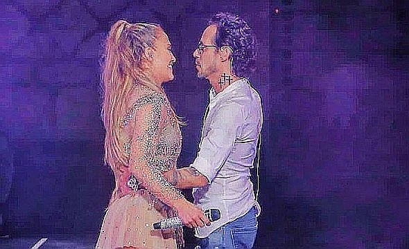 Marc Anthony quiso robarle beso a Jennifer López pero pasó esto [VIDEO]