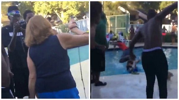 ¡Indignante! Arrojan a anciana a piscina por pedir que bajen el volumen en una fiesta [VIDEO]