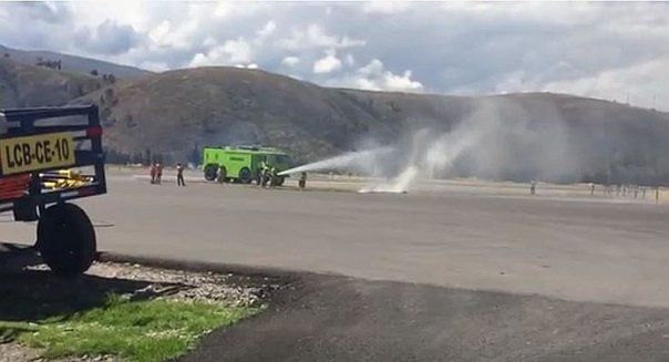 Aerolínea realiza simulacro de accidente en aeropuerto de Jauja (VIDEO)