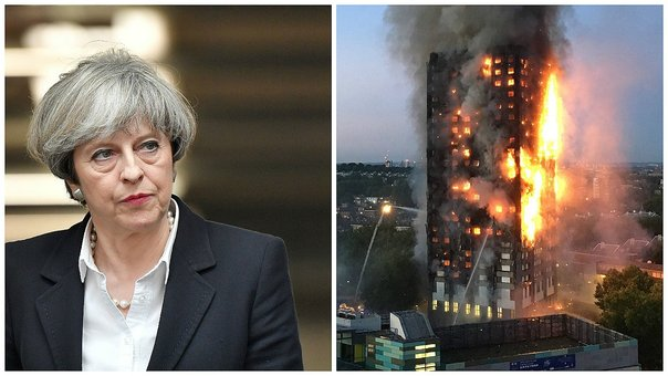 Theresa May ordena investigación por incendio en edificio en Londres