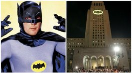 Batman: la 'batiseñal' vuelve a brillar en el cielo en honor de Adam West (FOTOS y VIDEO)