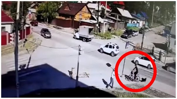 YouTube: un ciclista con mucha suerte se salvó de un choque (VIDEO)