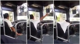 Facebook: chofer de bus canta por desamor mientras maneja y se vuelve viral (VIDEO)