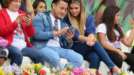Brunella Horna y Richard Acuña ya no ocultan su amor en la primaveral en Trujillo (VIDEO)