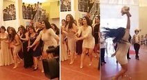 Michelle y Chris Soifer: hermanas se pelearon por bouquet en boda huanca (VIDEO)