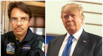 Eugenio Derbez conmociona las redes con curioso disfraz de Donald Trump (VIDEO)