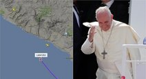 Papa Francisco ya se encuentra en cielo peruano (VIDEO)