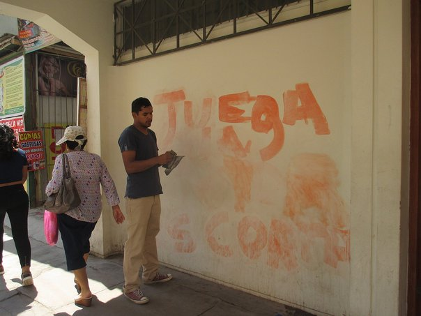 Chiclayo: Desadaptados realizan pintas en pared del Obispado (VIDEO)