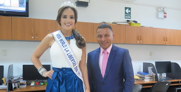 Estefani Mauricci fue coronada como Miss World La Libertad 2018 (VIDEO)