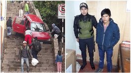 Chofer ebrio protagoniza inusual accidente en el cercado de Cusco (FOTOS)
