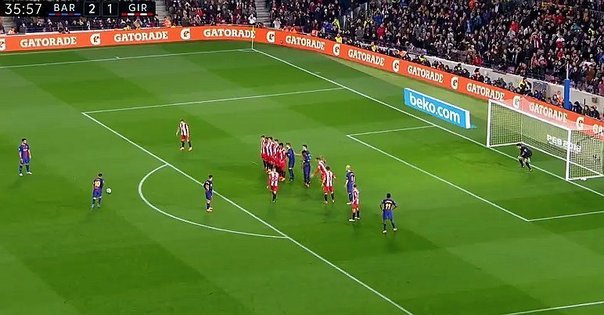 Revive el golazo de tiro libre de Messi frente al Girona (VIDEO)