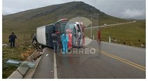 Tarma: once heridos deja accidente de bus en Lomo Largo (FOTOS)
