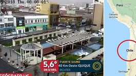 ​Sismo en Tacna de 5.5 grados se percibió en el norte de Chile (VIDEO)