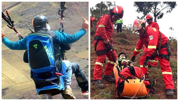 Parapentistas se accidentan en el Valle Sagrado de Los Incas (FOTOS)