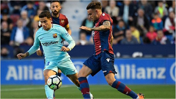 ​Barcelona perdió invicto al caer 5-4 ante Levante (VIDEO)