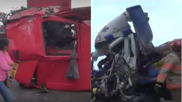 Ilo: Impactante choque entre tráiler y camión se registró en la Costanera  (FOTOS Y VIDEO)