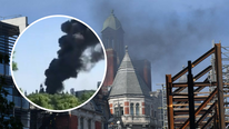 Nube negra se levanta sobre Londres tras incendio en exclusivo hotel (VIDEO)