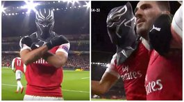 Europa League: jugador del Arsenal celebró su gol al estilo 'Black Panther' (VIDEO)