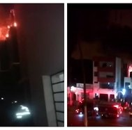 Incendio en edificio alarmó a vecinos de Chorrillos (VIDEO)